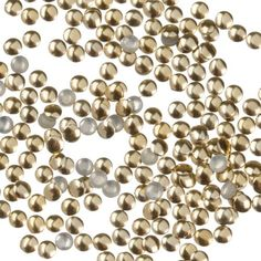 Zink Color Nail Art Gold Round Metal Stud Small 50Pc Embellishment >>> To view further for this item, visit the image link.