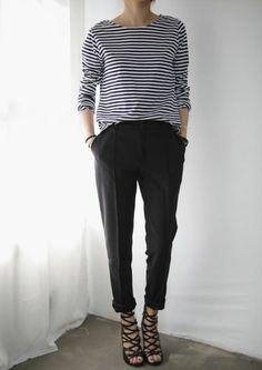 pantalon taille haute pour la femme