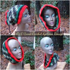 ~ #CROCHET 1 HAT DAILY! ** ~ Day 361 ** AWE!Some Crochet by Gina Renay ImaGINAtions To purchase, send inquiry to ginarenay@yahoo.com