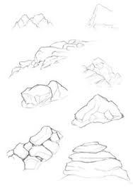 Image result for how to draw realistic boulders