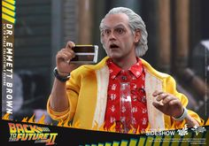 Back to the Future Dr Emmett Brown Sixth Scale Figure by Hot | Sideshow Collectibles