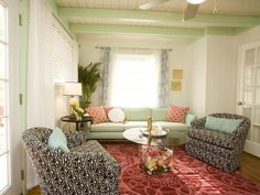 Green Trellis Wallpaper Laundry Room Wet Bar : Designers' Portfolio : HGTV - Home & Garden Television
