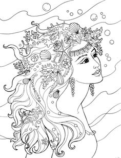 Creative Haven Mermaids - (doverpublications)                                                                                                                                                                                 More