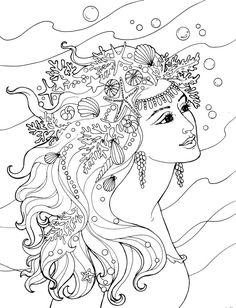 Creative Haven Mermaids - (doverpublications)                                                                                                                                                                                 More