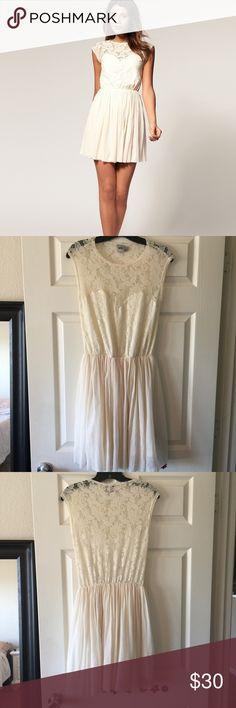 "ASOS skater dress with lace and mesh asos skater dress with lace and mesh. Approx 36"" from shoulder to hem. ASOS Dresses"