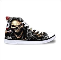 Awesome street cred skull shoes. Unisex. Price $59.95 Click the link in my bio ---> @soulkreedclothing and grab yours today while stocks last. Sign up to our newsletter and get 15% off all purchases! Custom made. Limited edition. Upper material : Canvas Outsole material : Rubber Lining material : cotton fabric   #fashionmen #mensfashionstyle #mensfashionpost #mensfashionblog #mensfashions #mensfashionblogger #mensfashiondaily #mensfashionfix  #mensfashionreview #mensfa..