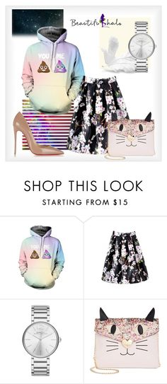 """""""3D Cartoon Print Long Sleeve Laid Back Hoodie"""" by ilona-828 ❤ liked on Polyvore featuring Marc by Marc Jacobs, Betsey Johnson, Christian Louboutin, bhalo and bhalo3"""