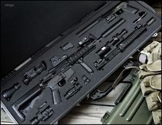 M4 Carbine with Sopmod Kit and M9 Pistol with Surpressor