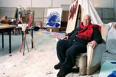 Sir Howard Hodgkin in his studio by the British Museum in London. Portrait by Graham Wood