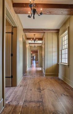 love the way the walls look with these wide planks!!! The little detail and tan color makes me hate paint a little less.