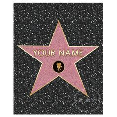 WALK OF FAME Star, Walk of Fame Poster, Walk of Fame Customized Star, Walk of Fame Personalized Poster,Printable Walk of Fame Star,Hollywood by Lythiumart, $10.00 USD