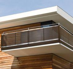 balkongel nder stahl pulverbeschichtet mit holz. Black Bedroom Furniture Sets. Home Design Ideas