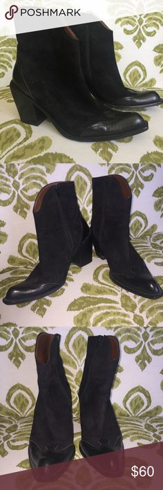 Angela Falconi Ankle Boots Beautiful suede boots from Angela Falconi in excellent condition. Size 9.5 but run a little tight on sides. ✨All offers considered✨  🌸Bundle 3 items for 15% OFF or BOjGO get one 50% up to as many items as you'd like 🌸 Angela Falconi Shoes Heeled Boots