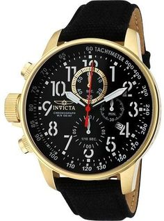 Invicta Watches Mens I-Force Chronograph Rifle Canvas Band Watch
