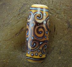 Handmade Lampwork Glass Focal Bead Scrolls by by PowersArtStudio, $15.00