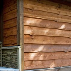 Leading cedar siding black trim tips for 2019 Wood Siding House, Log Cabin Siding, Clapboard Siding, Barn Siding, Wood Cladding, Exterior Cladding, Cladding Ideas, Into The Woods, House In The Woods