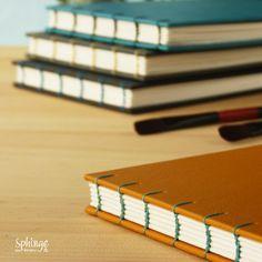 Sketchbooks with 300gr. watercolor paper. Coptic stitch / Cuadernos de bocetos con papel de acuarela 300gr. Costura copta
