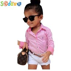$8.80 (Buy here: https://alitems.com/g/1e8d114494ebda23ff8b16525dc3e8/?i=5&ulp=https%3A%2F%2Fwww.aliexpress.com%2Fitem%2FSummer-Europe-American-girls-pink-striped-shirt-shorts-belt-3pcs-girls-clothing-sets-suit-Fashion-children%2F32305335370.html ) Sodawn Summer Europe American Girls Pink Striped Shirt+Shorts+Belt 3Pcs Girls Clothing Sets Suit Children Kids Girl Clothes for just $8.80