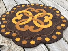 Celtic Ties Penny Rug Limited Edition Art by TwistedKnickersInc