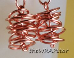 Chaos Earrings for a chaotic life!  $14.95  wire wrapped earrings wire wrapped jewelry