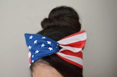 @amberluczak  American flag Dolly bow headband america American by JLeeJewels