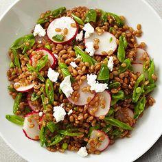 Wheat Berry, Sugar Snap Pea, Radish, and Goat Cheese Salad