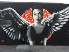 angel mural by findac in los angeles