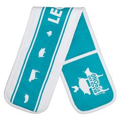 Buy LEON Double Oven Glove, Teal / White Online at johnlewis.com