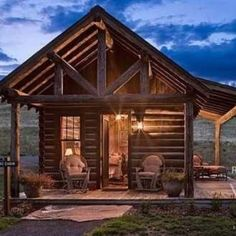 """My """"thinking cabin"""" -- that will look out over the mountain side."""