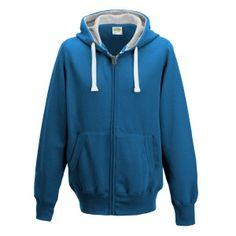 Chunky Zoodie hoodie Colour: Sapphire Blue  Sizes: S, M, L, XL, XXL FABRIC CONTENT: 80% Ringspun Cotton 20% Polyester FABRIC WEIGHT: 400gsm FEATURES: Full zip hoodie, Ear Phone Loops, Hidden Cord Feed Opening, Smartphone Compatible, Tear Away Label, Worldwide Responsible Accredited Production (WRAP) certified production, Side panels for stylish fit, Overlock stitching detail throughout, Double fabric hood with heather grey waffle fabric inner, Kangaroo pouch pocket and more.