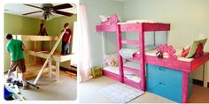 "Receive terrific suggestions on ""triple bunk beds diy plans"". They are on call for you on our site. Playroom Decor, Kids Decor, Home Decor, Loft Spaces, Kid Spaces, Chandler House, Triple Bunk Beds, Kids Bunk Beds, Furniture Projects"