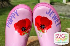 Scrappin with my bug: Rubber Boots, Poppy