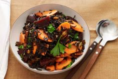 Wild Rice with Carrots and Beets