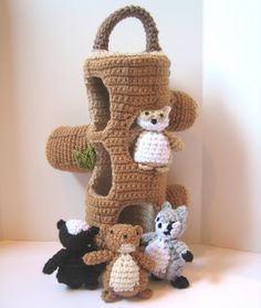 CROCHET N PLAY DESIGNS: New Crochet Pattern: Woodland Creatures