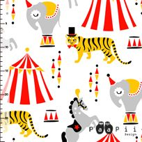 Sirkus puuvillakangas
