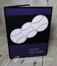 Stamp & Scrap with Frenchie: Baseball Season, Baseball Card