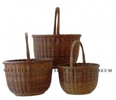Old Baskets, Vintage Baskets, Nantucket Baskets, Tin Containers, Museum Collection, Country Primitive, American Made, Wicker, White Oak