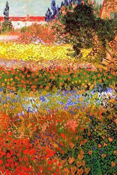 Art Print: Vincent van Gogh Flowering Garden by Vincent van Gogh : Vincent Van Gogh, Gustav Klimt, Van Gogh Tapete, Van Gogh Wallpaper, Van Gogh Tattoo, Van Gogh Self Portrait, Wall Art Prints, Poster Prints, Van Gogh Art