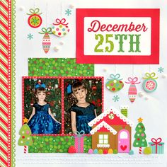Scrapping with Christine: Doodlebug Sugarplum Collection Christmas Layout.