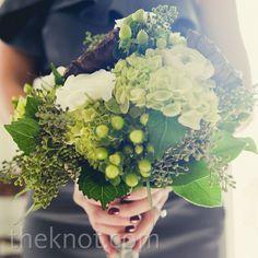 Green Bridesmaid Bouquet like the hypericum berrys