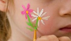 easy cheek painting - Google Search