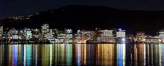 Wellington at night, New Zealand