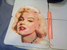 Marilyn Monroe Perler Portrait by ~vudumonkey25 on deviantART....WOW this is AMAZING!!!!!!!!