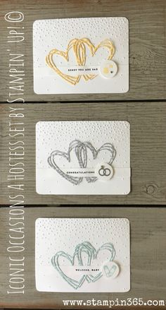 """Hi Friends! Here is a quick and easy idea for the new """"Iconic Occasions"""" hostess set by Stampin' Up!Located on page three of the new Stampin' up! Occasions catalog, this ve…"""