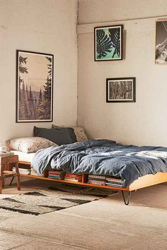 Dream away with a cool metal headboard, bed frames and daybeds from UrbanOutfitters.com. Find wooden, velvet and metal pieces to complete you bedroom decor.