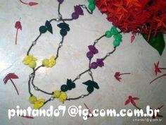 ♥Colar Reciclado Brasil Duplo Colorido♥