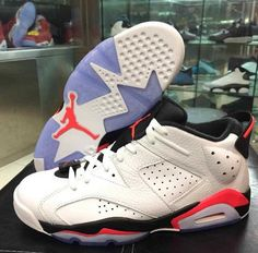 "Air Jordan VI Retro Low ""Infrared"" New Images 