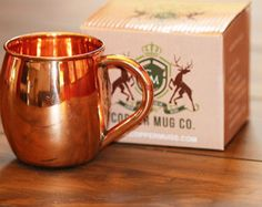 Smooth Moscow Mule Copper Mugs Pure Copper 16 oz Barrel Style