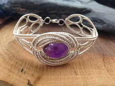 Bazaars R Us - Siver Wire Wrapped Amethyst Bracelet, $269.00 (http://www.bazaarsrus.com/siver-wire-wrapped-amethyst-bracelet/)