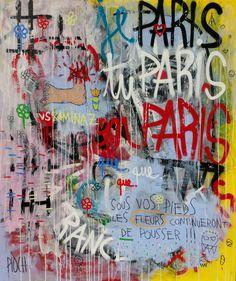 Sous vos pieds (Peinture),  105x125 cm par Olivier PIOCH Acte de résistance. La france ne meurt jamais.